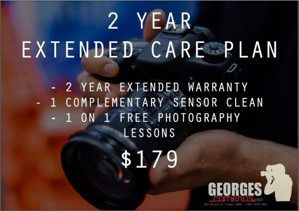 Georges Cameras 2 Year Extended Warranty Care Plan 2YR-WARRANTY Georges 2 Year Extended Warranty 179